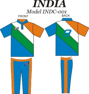 Design Pattern for India Cricket Jersey & Pants